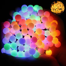 Colored String Lights Ball Fairy Lights Omgai 17ft 60 Led Waterproof Color Changing Globe String Lights For Outdoor Home Garden Patio Wedding Party Fence Christmas