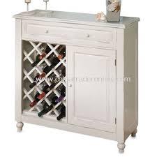 Raised Panel White Wine Cabinet from China