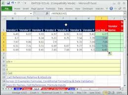 price comparison sheet excel excel magic trick 517 vendor name for low bid cheaper than next