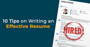 Tips For An Effective Resumes Collegedunia 10 Tips On Writing An Effective Resume