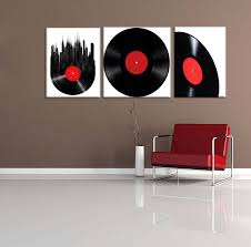 vintage retro disk abstract painting wall art modern canvas art wall decor with stretched
