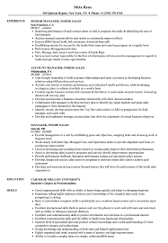 Inside Sales Resume Examples Manager Inside Sales Resume Samples Velvet Jobs 13