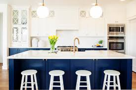 cabinets more than just white navy blue and white kitchen