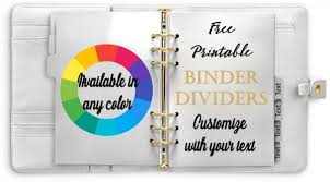 Free Divider Tabs Template Customized Printable Tab Dividers