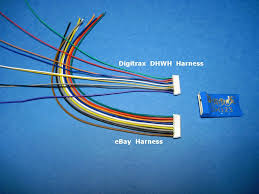 my model railroad aprril 1 2016 installing a dcc decoder in a as you can see in the picture above the digitrax dhwh harness has much smaller wire but for ho scale locomotives the larger wire won t be a problem