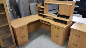 l shaped corner desk. Honey L Shaped Corner Desk With Drawers And Hutch