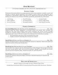 Payroll Clerk Resume Stunning 48 Payroll Resume Qtickles