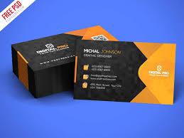 Free Psd Business Card Templates Free Psd Modern Corporate Business Card Template Psd By