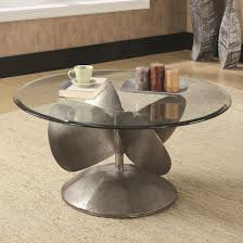 coffee table with rust hayes mirror top metal accent full size of