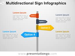 Infographics For Powerpoint Multidirectional Sign Infographics For Powerpoint