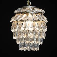 ch146 large chrome tear drops chandelier