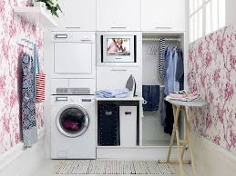 Decorations:Smart Laundry Room Organization Design Inspiration Beatiful  Wall Decorating Laundry Room With Awesome Pattern