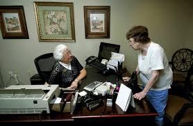 Daisy Fink serves Trinity Oaks residents from small F&M Bank ...