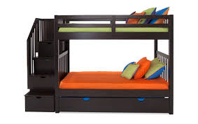 bunk beds with trundle and storage. Modren Bunk Keystone Stairway Bunk Bed With StorageTrundle Unit To Beds Trundle And Storage