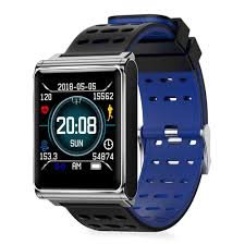 Track My Blood Pressure Makibes Ck02 Smartwatch 1 3 Inch Tft Screen Heart Rate Monitor Blue