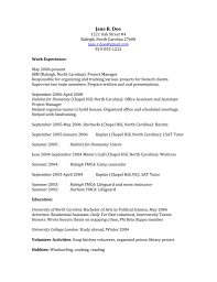 9 Activity Resume Template For College Acover Letters