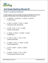 Free 3Rd Grade Grammar Worksheets Free Worksheets Library ...