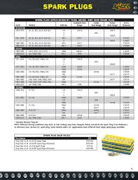 Accel Spark Plug Cross Reference Chart Page 7 Of Motorcycle V Twin Parts 2010