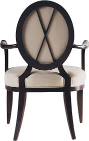 baker dining room oval x back dining arm chair 3441