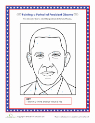 Small Picture Barack Obama Coloring Page Worksheet Educationcom