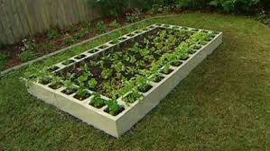Small Picture Concrete Block Raised Garden Bed Design Gardening Ideas