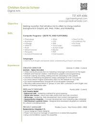 Graphic Design Resume Objective Statement DigitalArtsResumeExamplewithSkillsinHTMLandDesign 1