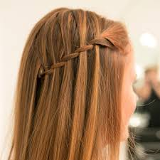 Easy Hair Style For Girl easy waterfall braid tutorial popsugar beauty 5570 by wearticles.com