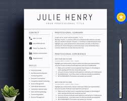 Modern Resume Etsy Creative Resume Template Minimalist Resume Resume Modern Etsy