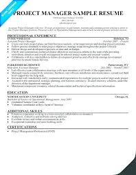 Sample Resume Construction Project Manager Project Management Experience Resume Hotwiresite Com