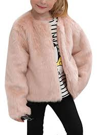 Amazon.com: Girls Winter Warm Faux Fur Rabbit Fake Short Long Sleeve Coat Little Kids Outerwear: Clothing