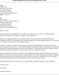 Cover Letter Samples Marketing Coordinator Lezincdc Com