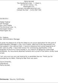 Collection Of Solutions Cover Letter Administration Manager