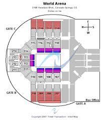 Broadmoor Arena Seating Chart Broadmoor World Arena Tickets In Colorado Springs Colorado