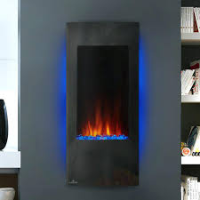 white wall mount electric fireplace mounted black