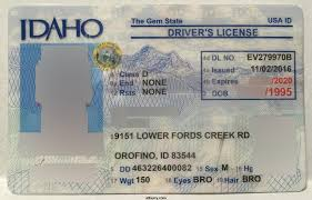 Maker Idaho Fake Id Card