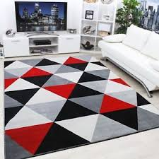 white modern rug. image is loading new-soft-touch-diamond-pattern-black-red-grey- white modern rug