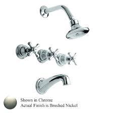brushed nickel 3 handle shower faucet 3 handle tub faucets mesmerizing 3 handle tub faucet photo