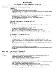 Technology Sales Resume Technology Sales Representative Resume Samples Velvet Jobs