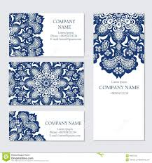 Business Invitation Card Format Set Of Business Or Invitation Cards Templates Stock Vector