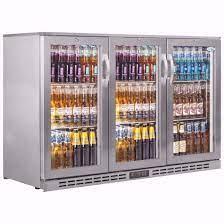 3 glass doors under counter bar fridge