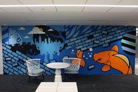 office graffiti wall. Weber Shandwick Office - Graffiti For Hire Wall