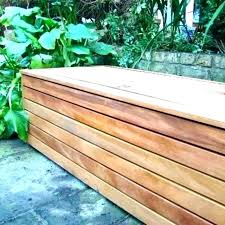 porch storage bench plans deck box patio boxes stunning gallon