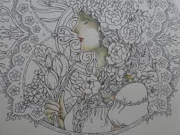 春の女神さまを塗り始めましたマンダラコロリアージュより 塗り絵日記