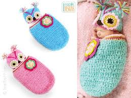 Free Owl Cocoon Crochet Pattern Mesmerizing Crochet Cute Baby Owl Cocoon With Pattern