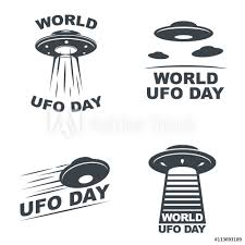 Fotografie Obraz World Ufo Day Posterscz