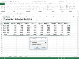 Sample Excel Document Excel 2019 Formatting Using The Format As Table Gallery