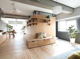 Building japanese furniture Japanese Style Sinato Cleverly Adds An Lshaped Wood Partition To Expand Small Apartment In Japan Inhabitat Sinato Cleverly Adds An Lshaped Wood Partition To Expand Small