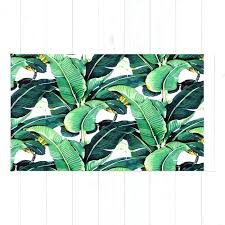 banana leaf rug runner leaves shaped