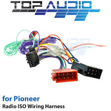 pioneer avh x6850bt iso wiring harness cable connector lead loom pioneer avh x6850bt iso wiring harness cable connector lead loom wire plug