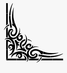 Black Scroll Design Clip Art Tribal Corner Scroll Black Tribal Border Free
